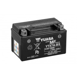 YUASA YTX7A-BS Battery Maintenance Free Delivered with Acid Pack