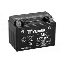 YUASA YTX9-BS Battery Maintenance Free Delivered with Acid Pack