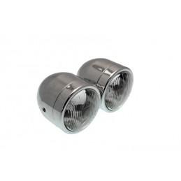 BIHR Twin Headlight Universal Ø90mm Chromed