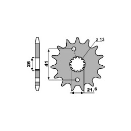 PBR 13-tooth sprocket for 520 Aprilia 250 RS chain