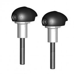 GBRACING Bullet Frame Slider Set Black Suzuki GSX-R1000