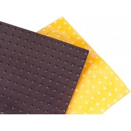 BLACKBIRD Non-Slip Adhesive 25x18cm Long Spikes Black