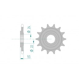 AFAM Front Sprocket 16 Teeth Steel Standard 520 Pitch Type 20311 HM-Honda CR 250 R Moto