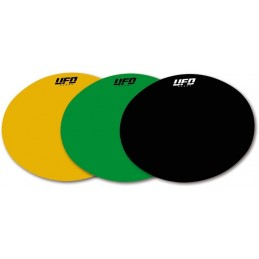 UFO Oval Adhesive Plates Green