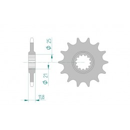 AFAM Front Sprocket 13 Teeth Steel Standard 520 Pitch Type 64302 HM-Honda CRE F 450 X